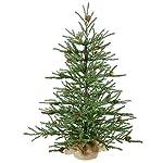 Vickerman Carmel Pine Tree with Pine Cones & 294 PVC Tips In Burlap Base