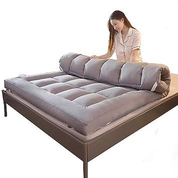 ASDFGH Espesar Terciopelo de la Pluma Futon colchón, Que Colchón Plegable Primeros del colchón de Fibra Ultra Soft Colchones de futon 4 Bandas de ...