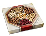 Holiday Assorted Nuts Gift Baskets(7-Flavors) Christmas, New Year's and Thanksgiving Gourmet Mixed Snacks | Fancy Roasted Peanuts, Pistachios, Walnuts