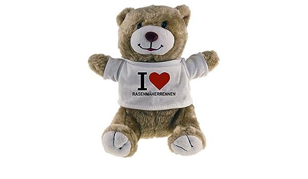 Diseño de oso de peluche Classic I Love cortacésped Carreras Beige ...