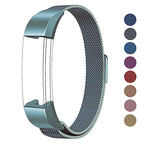 SWEES Metal Bands Compatible Fitbit Alta, Fitbit Alta HR & Fitbit Alta Ace, Milanese Stainless Steel Replacement Accessories Small Large for Women Men, Silver, Black, Rose Gold, Colorful, Champagne