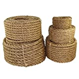 "SGT KNOTS Twisted Manila Rope 1/4"", 5/16"", 3/8"", 1/2"", 5/8"", 3/4"", 1"", 1.25"", 1.5"", 2"", 3"" x Several Lengths"
