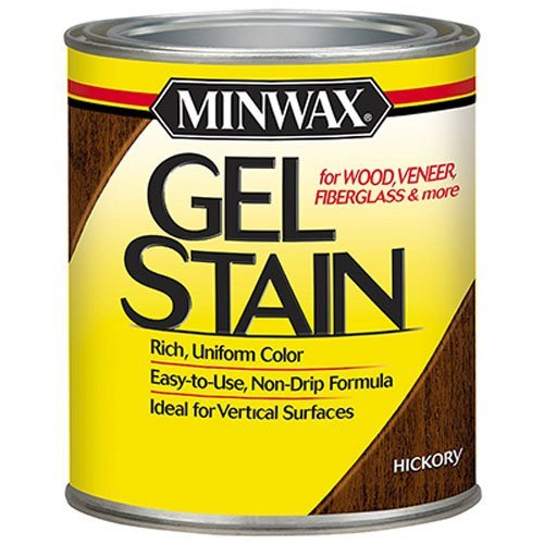 Minwax 261004444 Interior Wood Gel Stain, 1/2 pint, Hickory