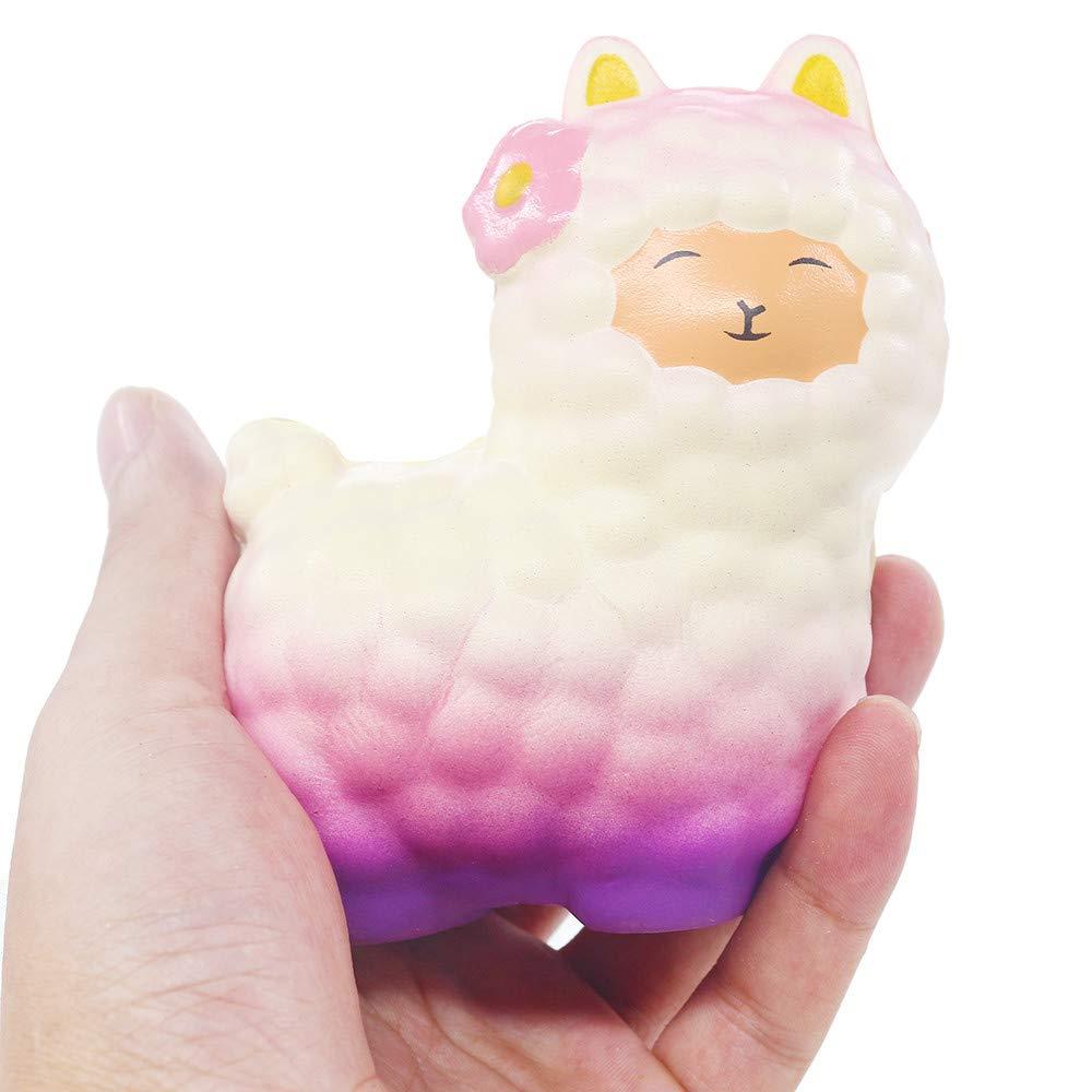 Squeeze Cute Sheep Alpaca Super Slow Rising Scented Fun Animal Toys