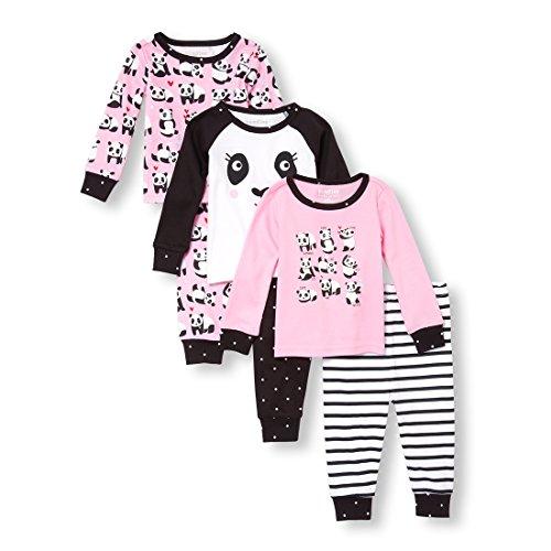 The Children's Place Baby Girls 6 Piece Pajama Set, Tiara Pink, ()