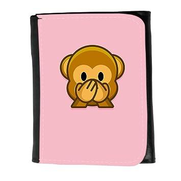 Cartera para hombre // Q05190630 Emoji mono 3 Rosado // Small Size Wallet: Amazon.es: Electrónica