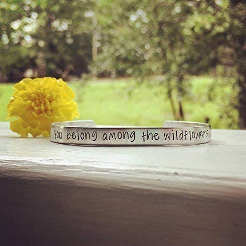 You belong among the wildflowers -quote bracelet ()