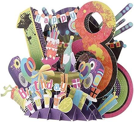 FLAMEER Tarjeta De Felicitación Feliz Cumpleaños 3D Pop-up ...