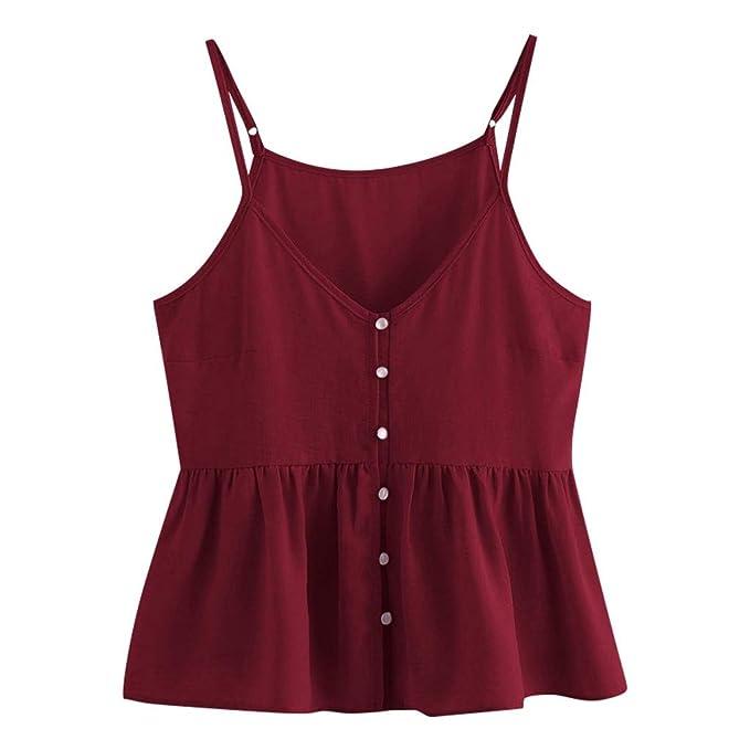 24699fc5e Luckycat Camisetas de Tirantes para Mujer