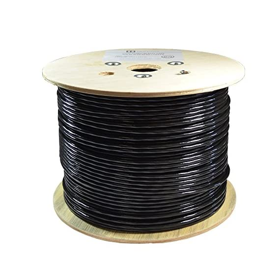 CAT6 1000FT DIRECT BURIAL OUTDOOR CABLE UV 23AWG WATERPROOF SOLID 550MHZ CMX