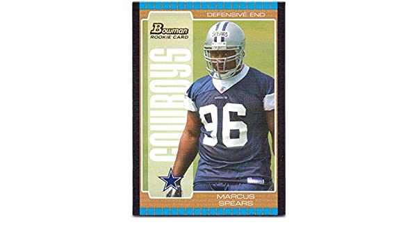 ab69605af60 Marcus Spears 2005 Bowman Bronze Rookie #133 - Dallas Cowboys at Amazon's  Sports Collectibles Store