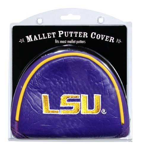 Team Golf NCAA LSU Tigers Golf Club Mallet Putter Headcover, Fits Most Mallet Putters, Scotty Cameron, Daddy Long Legs, Taylormade, Odyssey, Titleist, Ping, Callaway ()