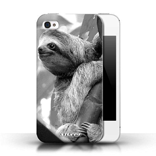 Kobalt® protector duro de nuevo caso / cubierta para el Apple iPhone 4/4S | Pereza Diseño | Animales de zoológico mono colección