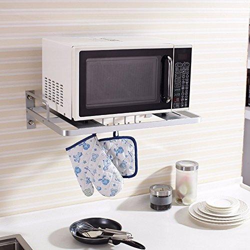 lzzfw Espacio Engrosada Aluminio Estante microondas Cocina ...