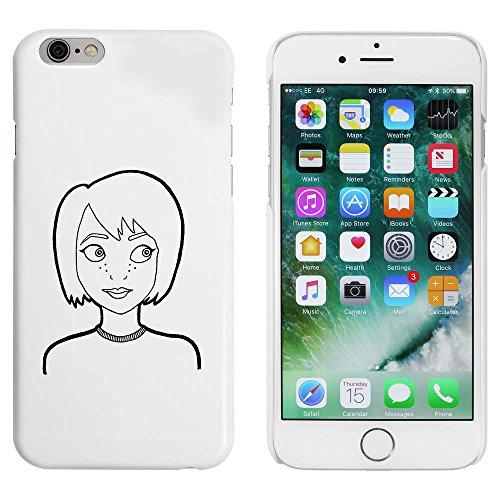 Blanc 'Fille avec Taches de Rousseur' étui / housse pour iPhone 6 & 6s (MC00007694)