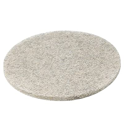 """Premiere Pads 4020NHE Natural Hair/Synthetic Fiber Extra High-Speed Floor Pad, 20"""" Diameter, Natural (Case of 5)"""