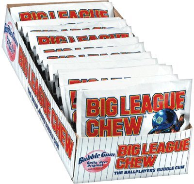 Big League Chew-Shredded Bubble Gum, 24 Packets Original