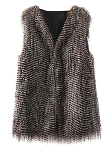 Choies Peacock Stripe Waistcoat Outerwear