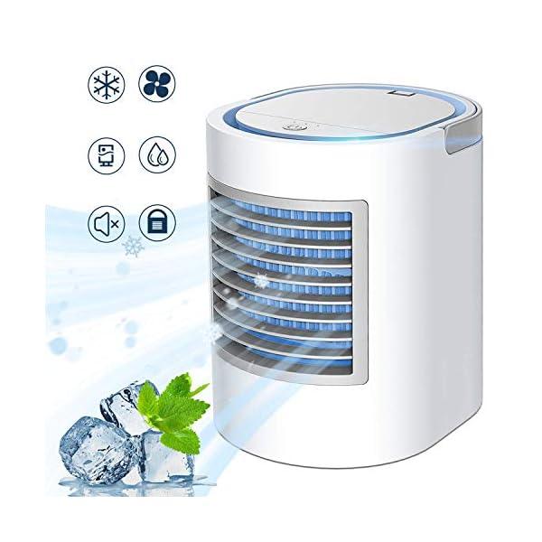 Portable Air Conditioner, Personal Mini Air Cooler, Quiet USB Desk Evaporative Air...