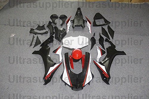 Red White Black Complete Fairing Kit Injection for 2015-2016 Yamaha Yzf R1 1000