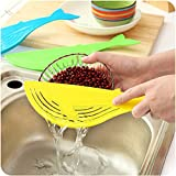 Cooking Tools Kitchen Tool The Whale Shaped Handle Type Water Filter Frame Rice Washer Creative Kitchen Water Retaining Frame.