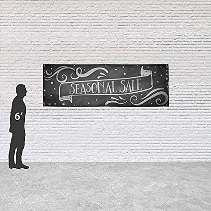 Chalk Banner Heavy-Duty Outdoor Vinyl Banner CGSignLab Seasonal Sale 12x4