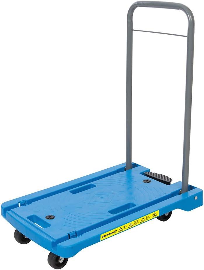 Silverline 950179 Carretilla de transporte con plataforma de polipropileno, Azul