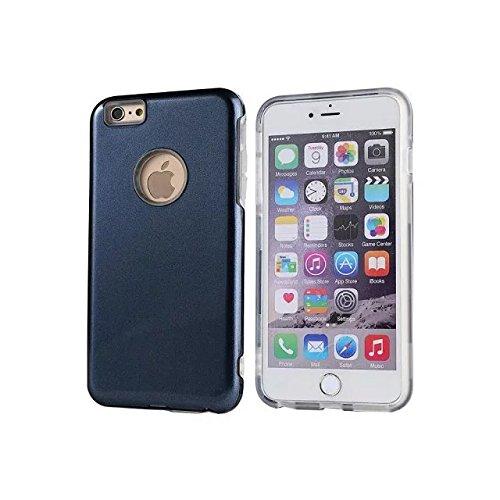 """Iphone 6 Plus Coque,Iphone 6S plus 5.5 """"Coque,Lantier double couche TPU Transparent + PC dur Bumper Shock Absorbing et Scratch Resistant Cover pour Apple Iphone 6 Plus/6S plus 5.5"""" Dark Blue"""