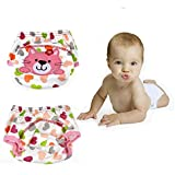 Cutebaby Cartoon Cat Cloth Nappy Reusable Washable Baby Cloth Nappies Diapers (Caterpillar)