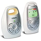 Baby : VTech DM223 Audio Baby Monitor with up to 1,000 ft of Range, Vibrating Sound-Alert, Talk-back Intercom, Digitized Transmission & Belt Clip