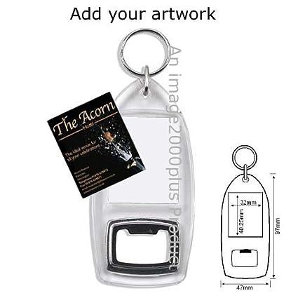 Amazon.com: 10 transparente en blanco inserto de abridor de ...