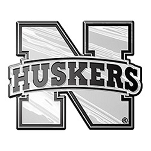 Nebraska Cornhuskers Chrome Auto - Nebraska Cornhuskers NCAA Chrome 3D for Auto Car Truck Emblem Decal Sticker College Officially Licensed Team Logo