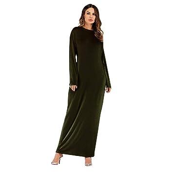 d525c338cd Amazon.com: Clearance Sale Womens Casual Loose Maxi Dress,Muslim Ramadan  Plus Size(S-2XL) Elegant Kaftan Abaya Long Robes Burqa Tunics Tops (XXL, ...