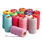 Linen Rope, WensLTD 100m Long/100Yard Pure Cotton Twisted Cord Rope Crafts Macrame Artisan String (M)