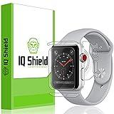 Apple Watch Series 3 Screen Protector, IQ Shield LiQuidSkin Full Body Skin + Full Coverage Screen Protector for Apple Watch Series 3 (38mm) HD Clear Anti-Bubble Film