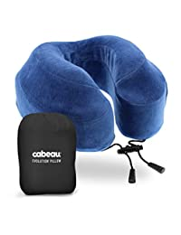 cabeau Evolution Memory Foam Travel Pillow – La mejor almohada de cuello con 360 Head & Neck Support