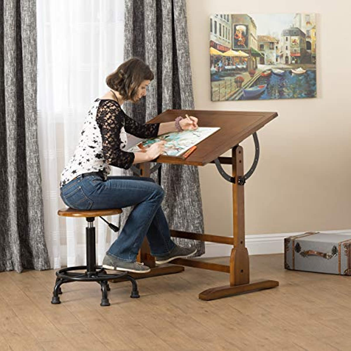 Art Table for Drawing Light Up Vintage Drafting Set Easel ...