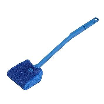 Triamisui Tanque de Peces de Acuario de plástico Azul Algas Limpiador Planta de Vidrio Cepillo de Limpieza fácil para Sala de Estar Hotel y baño: Amazon.es: ...