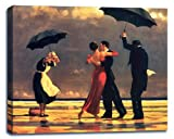 Singing Butler by Jack Vettriano Stretched Canvas Wall Art Print - 38x28in