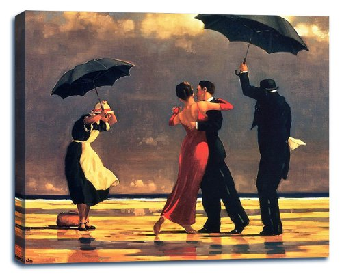 - Singing Butler by Jack Vettriano Stretched Canvas Wall Art Print - 38x28in