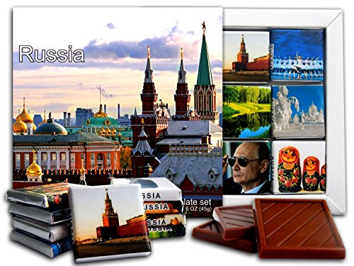 DA CHOCOLATE Candy Souvenir RUSSIA Chocolate Gift Set 5x5in 1 box (Church)