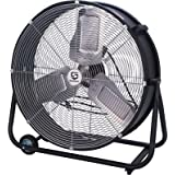 Strongway Classic Cooler Drum Fan - 24in., 1/6 HP, 7700 CFM