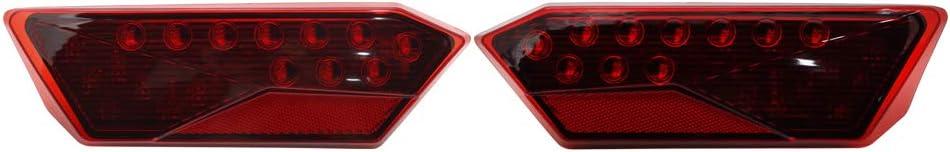 SOYAVISION Red Lens LED Tail Light Rear Brake Driving Lights for 2014-2019 Polaris RZR 1000 XP//Turbo 900 S RZR 4 Left /& Right Taillight