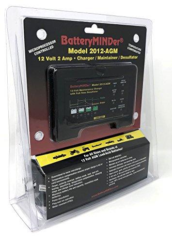 BatteryMINDer Model 2012-AGM: 12Volt-2 Amp Battery Charger Maintainer/Desulfator for Odyssey, Optima and AGM Lead-Acid Batteries - Designed for Cars, Trucks, Motorcycles, ATV, Boat, RV, etc. by BatteryMINDer (Image #1)