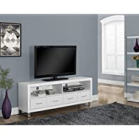 60L WHITE WITH 4 DRAWERS TV STAND