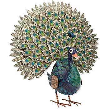 640708a6588ac Amazon.com : Design Toscano Regal Peacock Garden Bird Statue, Large ...