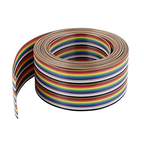 DealMux IDC Wire Flat Ribbon Cable 30Pin 1.27mm 10Ft Rainbow Color
