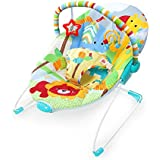 Cadeira de Descanso Festival de Amigos, Bright Starts, Amarelo / Vermelho / Azul
