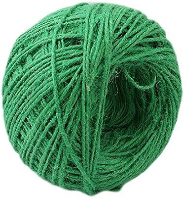 Albeey Vert Ficelle de jute naturel, corde de jute épais ...