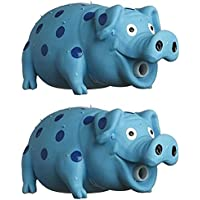 MultiPet Goblets Pig latex Dog toy Assorted Colors, Pack of 2